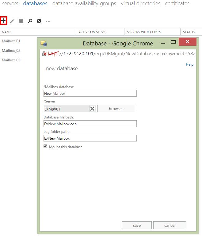Create New Mailbox