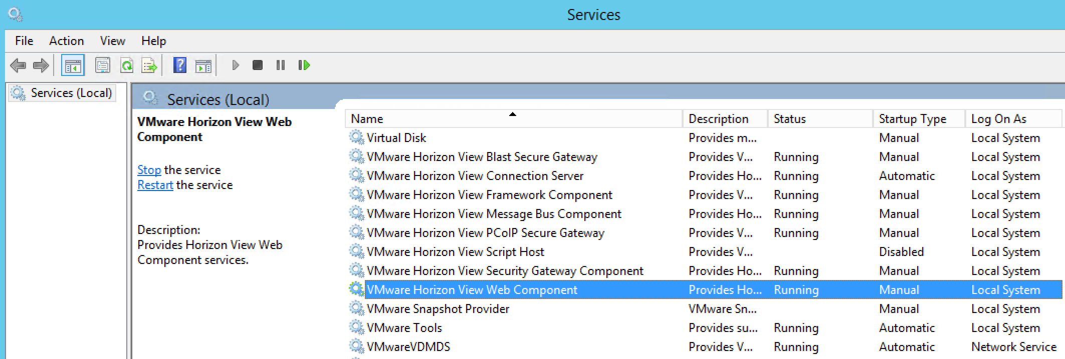 Customising the VMware Horizon Web Portal