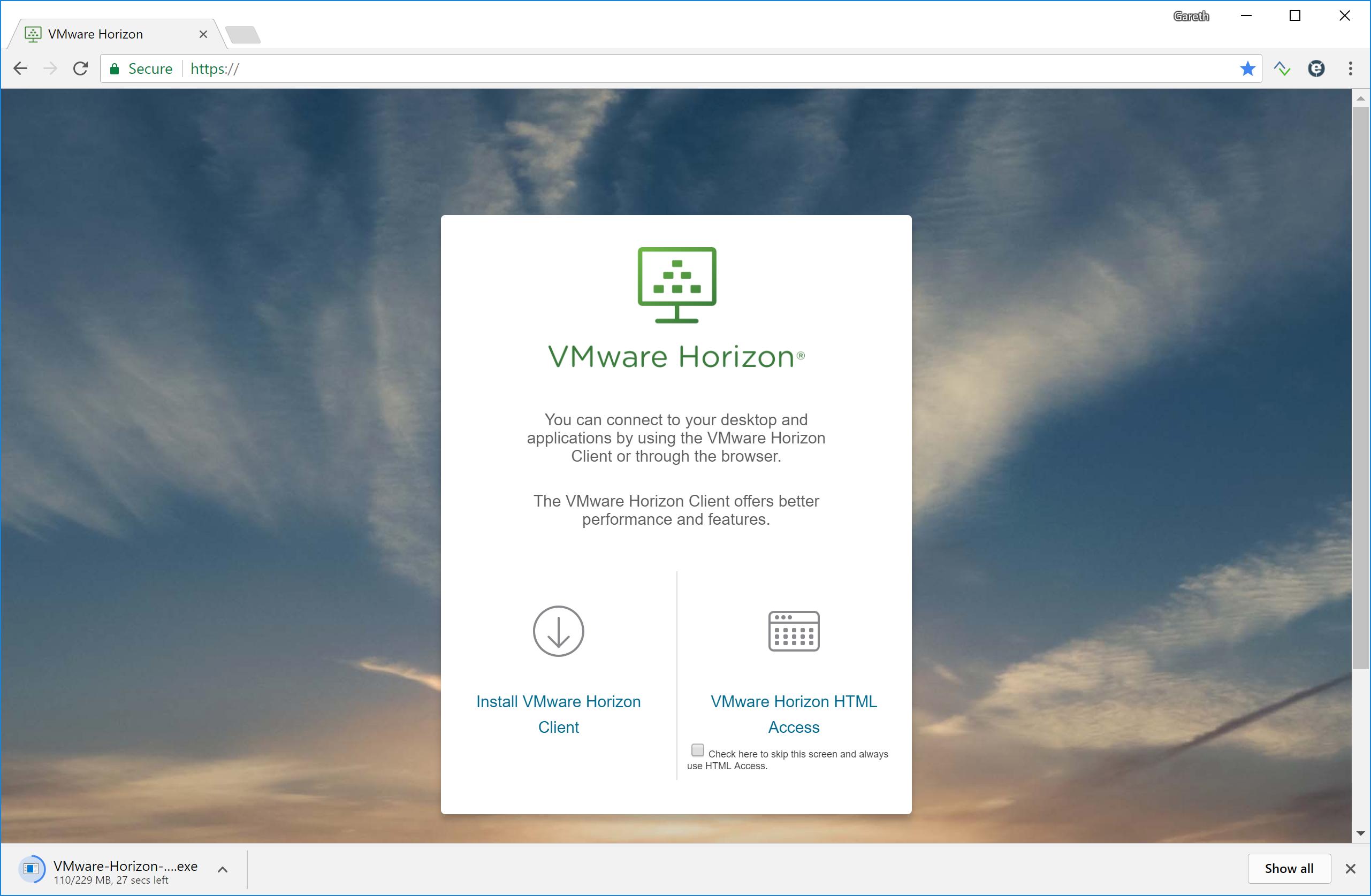 Customising the VMware Horizon Web Portal