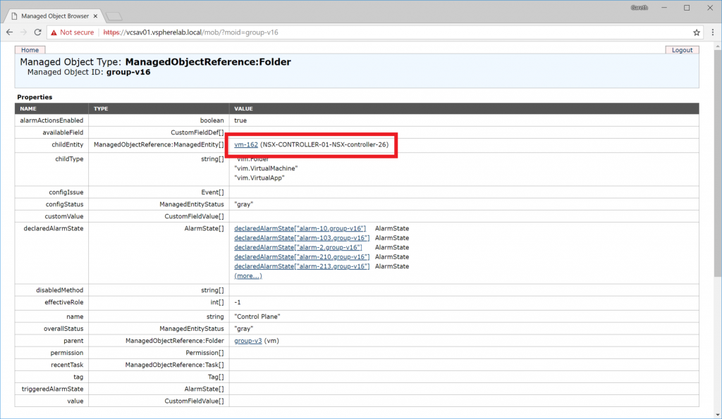 vGarethLewis - Editing Protected VMs in vSphere - Managed Object Browser