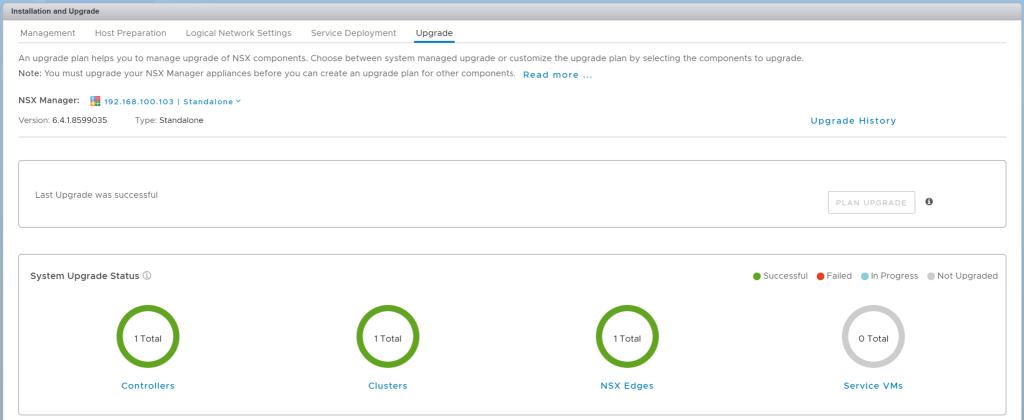 VMware NSX for vSphere 6.4.1 - One Click Upgrade