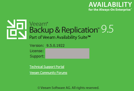 Veeam Backup and Replication 9.5 Update 3a 9501922