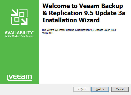 vGarethLewis - Veeam Backup & Replication 9 5 Update 3a