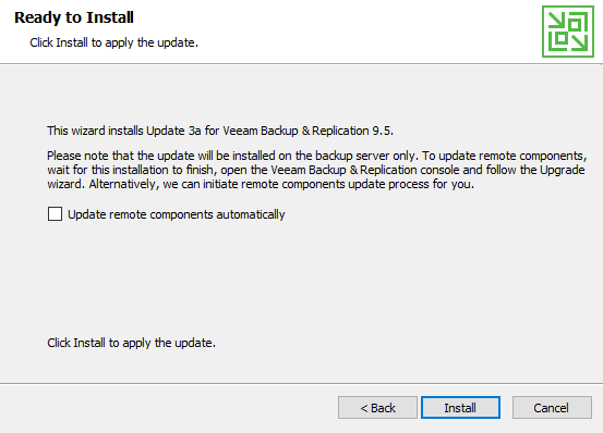 vGarethLewis - Veeam Backup & Replication 9 5 Update 3a
