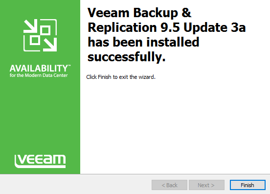 Veeam Backup and Replication 9.5 Update 3a Upgrade