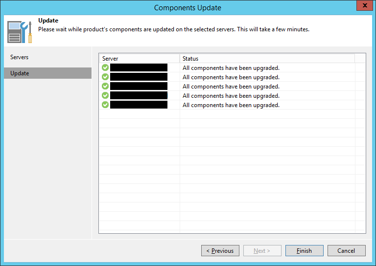 Veeam Backup and Replication 9.5 Update 3a Upgrade - Update Components