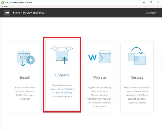 vGarethLewis - Upgrade VMware vCenter Server Appliance from
