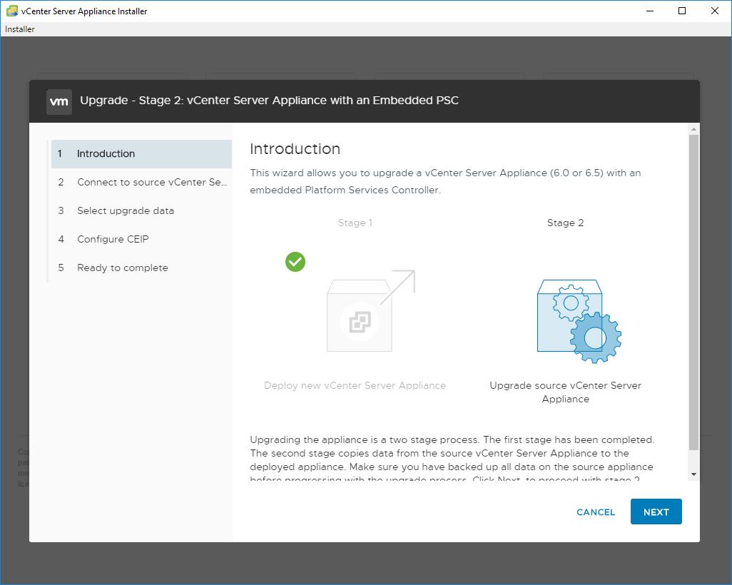 vGarethLewis - Upgrade VMware vCenter Server Appliance from 6 5 to 6 7