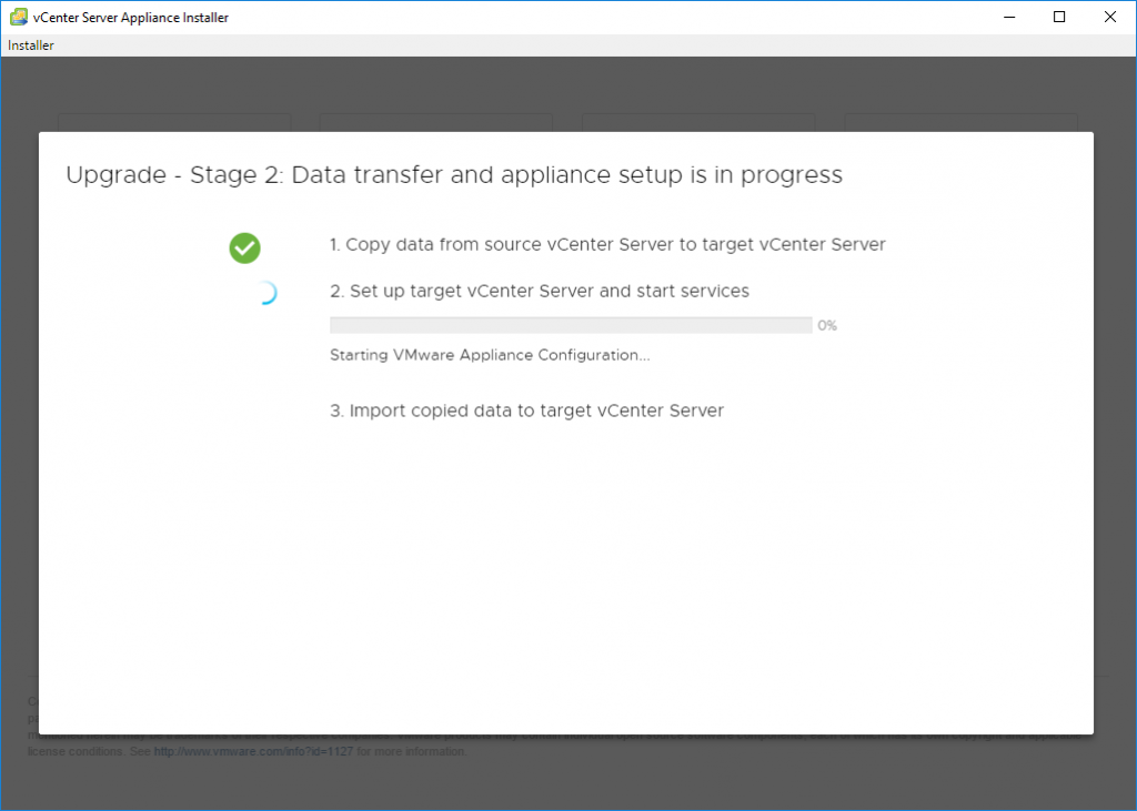 VMware vCenter Server Upgrade to 6.7