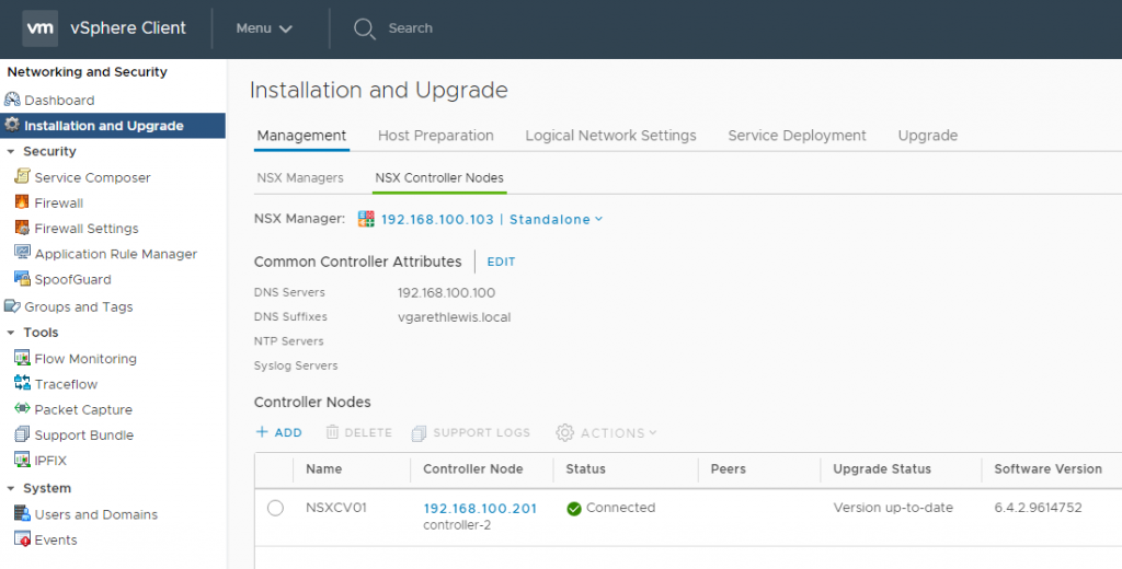Deploying Lean NSX Controllers in a Lab Environment NSX Controller