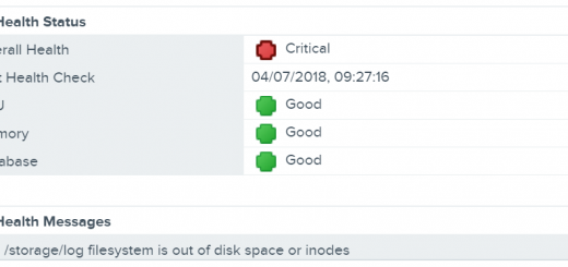 VCSA Storage Logs Full Overall Health