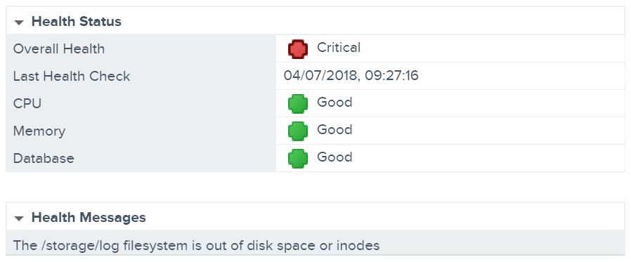 vGarethLewis - VMware vCenter Server Appliance /storage/log Full
