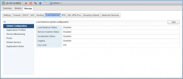 Configure VMware NSX One-Armed Load Balancer