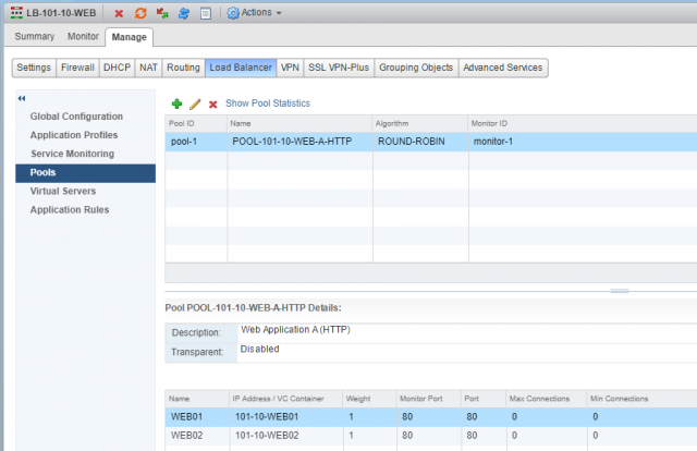 Configure VMware NSX One-Armed Load Balancer