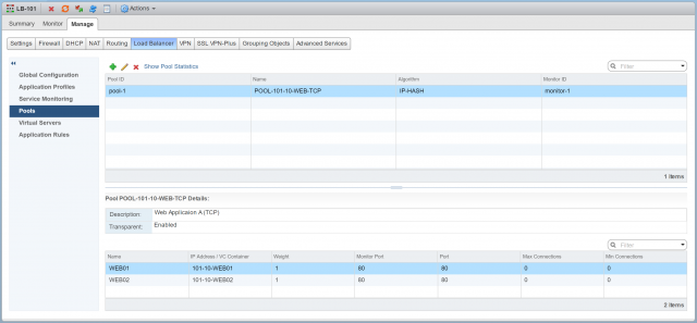 NSX Edge Load Balancers: Part 2 - In-Line/Transparent Mode - Configuration
