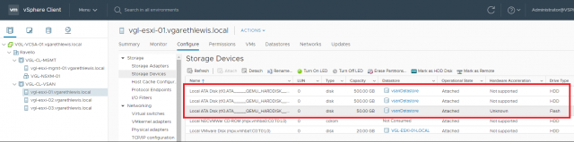 VMware vSAN: Part 1 - Installation and Configuration - Disk Layout