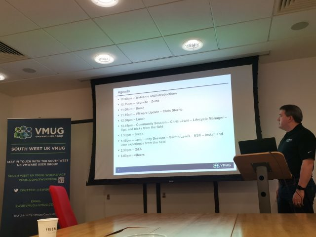 20190320 - South West UK VMUG - Welcome and Introduction by Jeremy Bowman
