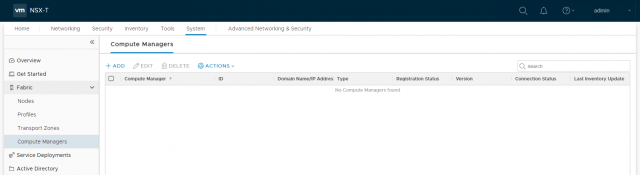 VMware NSX-T Data Center - Add a Compute Manager 201