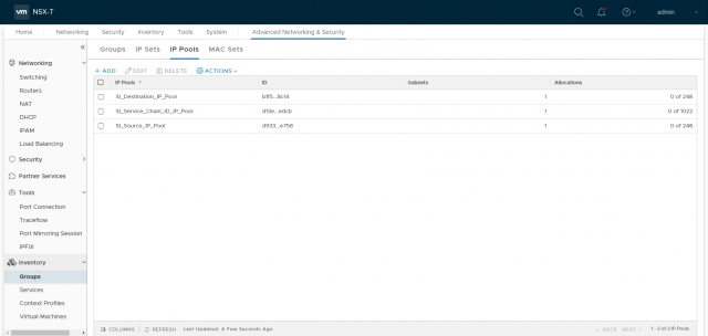 VMware NSX-T Data Center - Create an IP Pool for Edge Tunnel End Points 401