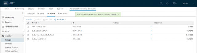 VMware NSX-T Data Center - Create an IP Pool for Edge Tunnel End Points 403