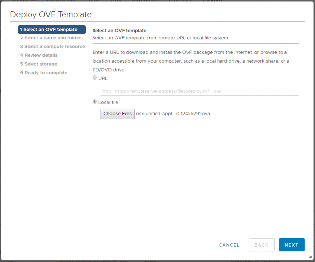 VMware NSX-T Data Center - Deploy Manager Appliance