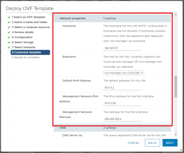 VMware NSX-T Data Center - Deploy Manager Appliance 108