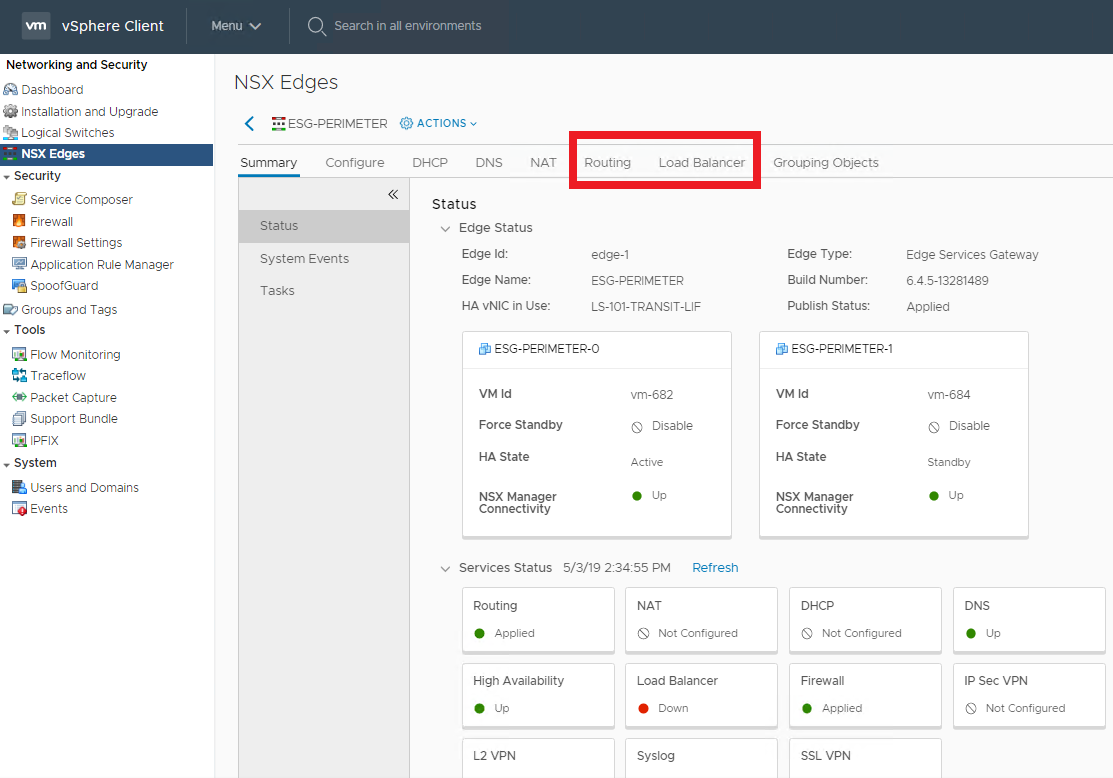 NSX Data Center for vSphere 6.4.5 Released