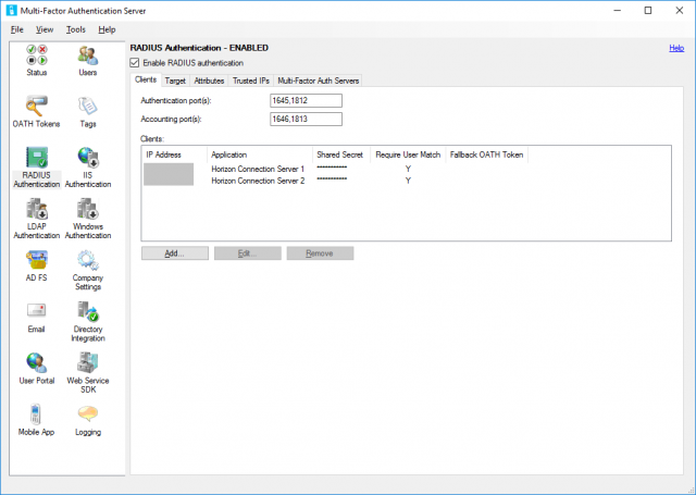 VMware Horizon and Microsoft Azure MFA Server Integration