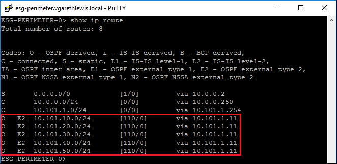 VMware-NSX-V-Dynamic-Routing-OSPF-Post-show-ip-route