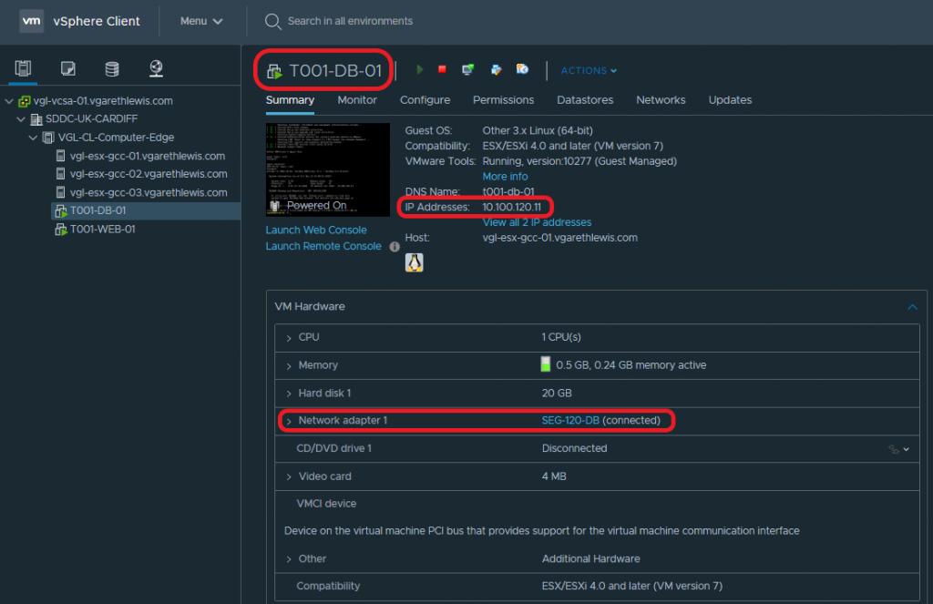 VMware NSX-T Tier-1 Gateway - Add VMs