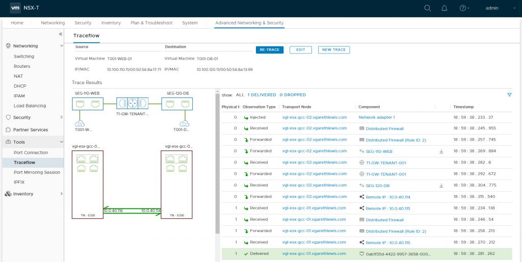 VMware NSX-T Tier-1 - Troublehshooting Traceflow